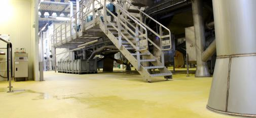 At the request of KADI AG, the industrial floor system of MC was supplied exclusively in a special yellow colour. It was quickly installed over an area of 1,000 m².