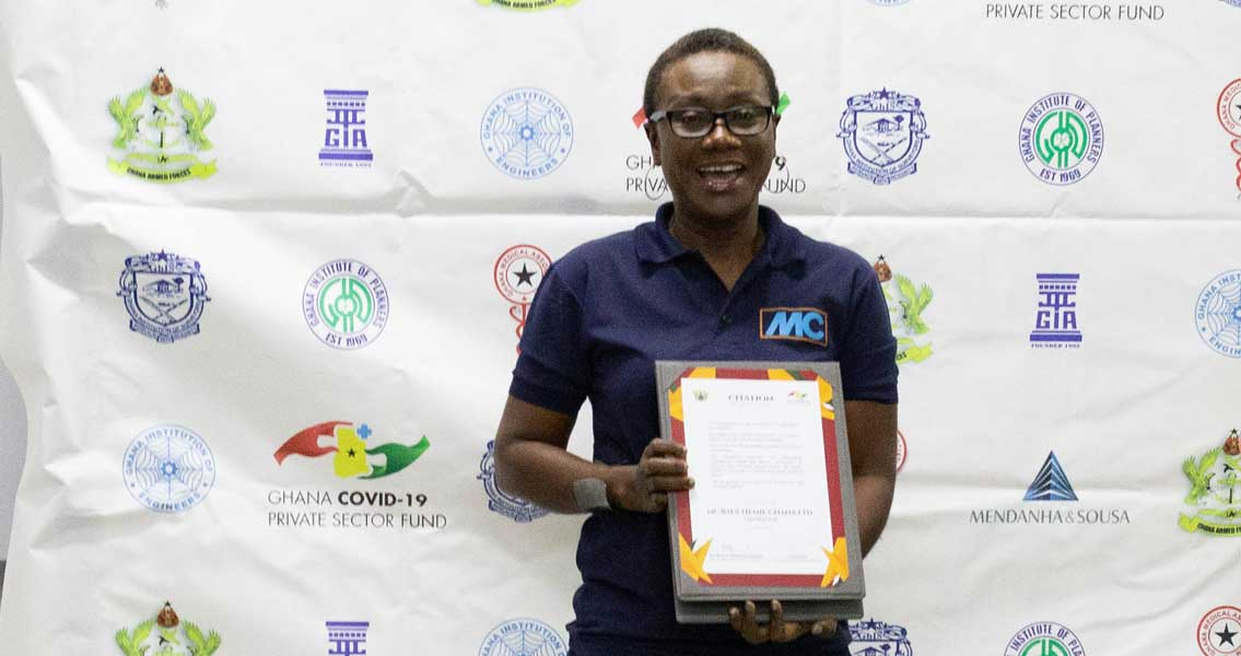 The award from the Ghanaian Government was accepted on behalf of MC Ghana by Christina A. Aikins on 14 August 2020.