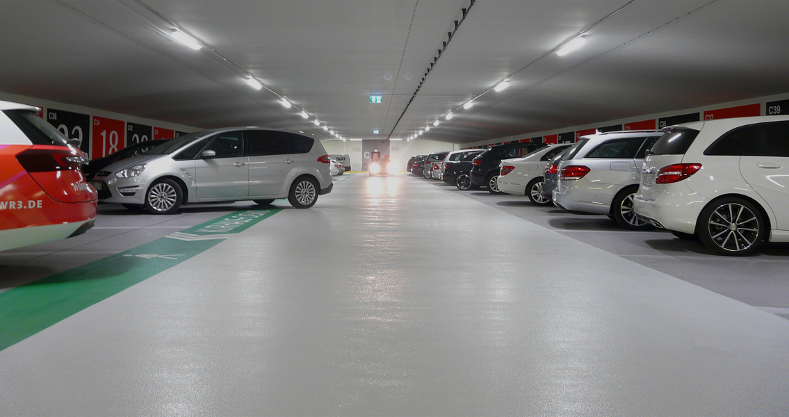 "Extensive rehabilitation project of the ""Kurparkgarage"" in Baden-Baden."