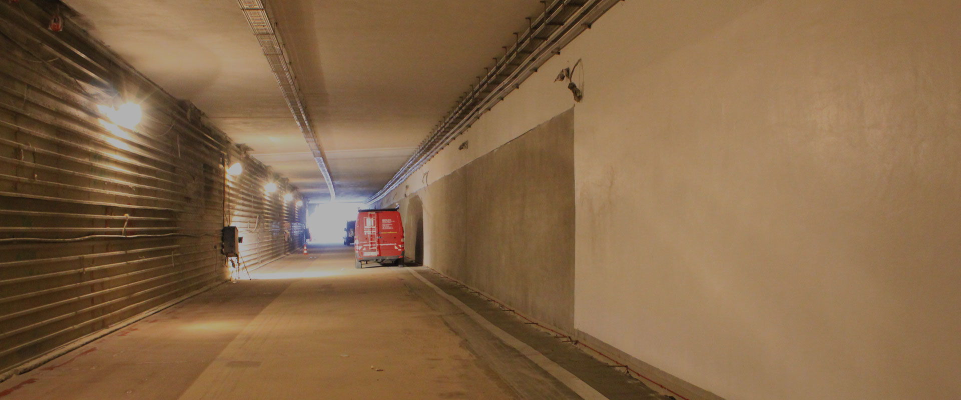 Structural fire protection in a motorway tunnel in Cologne