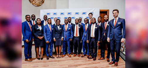 Group picture of the MC leadership team with the team of MC Ghana at the ceremony in Accra.